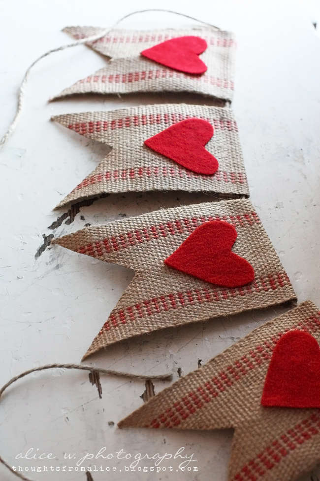 Rustic Red Heart Banner