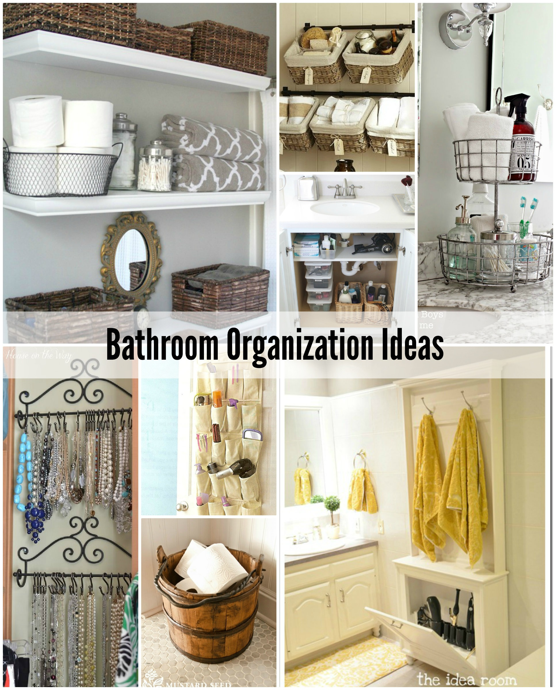 Bathroom organization tips the idea room for Ideas for your bathroom