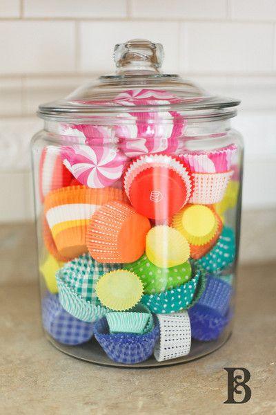 cupcake liner storage