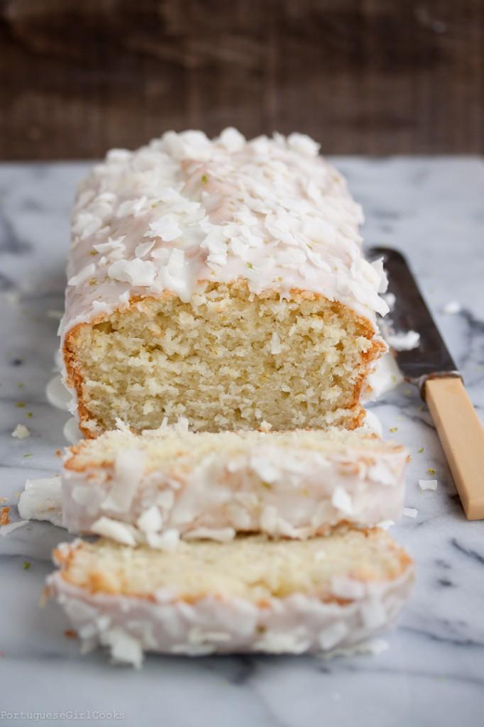 Lemon Coconut Loaf Cake With Lemon Icing