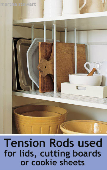 storage in cupboards