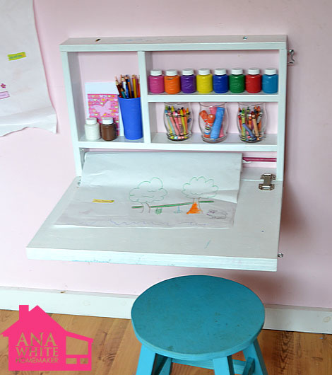 Playroom and toy organization tips the idea room for Diy fold down desk