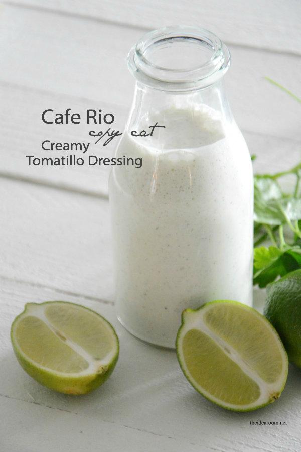 Cafe Rio Creamy Tomatillo Dressing