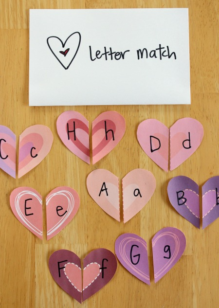 Heart-Shapes-Letter-Match-Craft