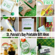 St. Patrick's Day Printable Gift Ideas