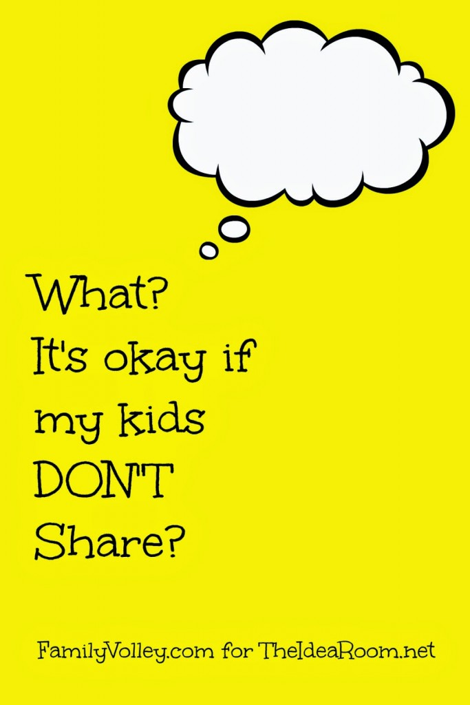 parenting tips on sharing