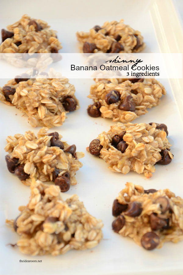 healthy banana-oatmeal-cookies