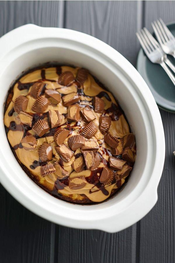 slow cooker peanut butter swirl cake