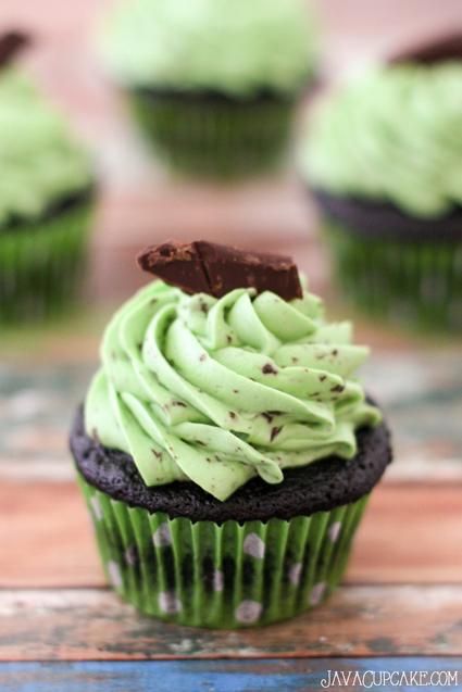 Chocolate Chip Mint Cupcakes from JavaCupcake