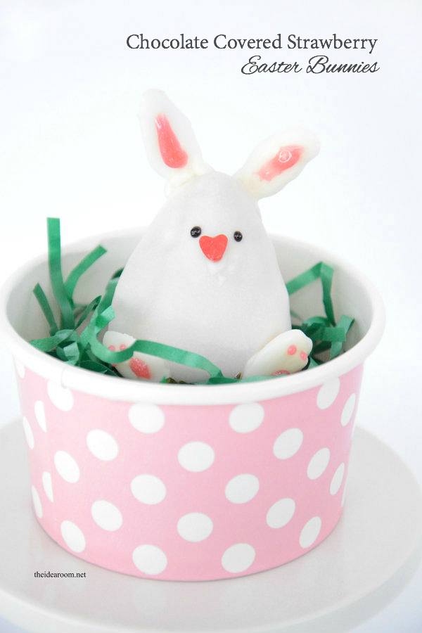Chocolate Strawbery Easter Bunny