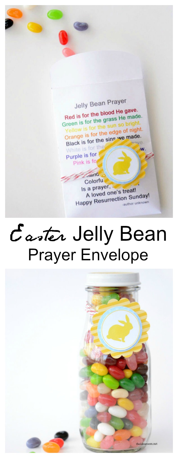 photograph relating to Jelly Bean Prayer Printable known as Easter Jelly Bean Prayer Envelopes - The Notion House