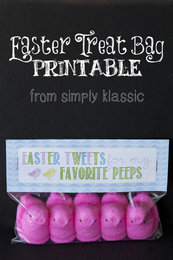 Easter Treat Bag Printable