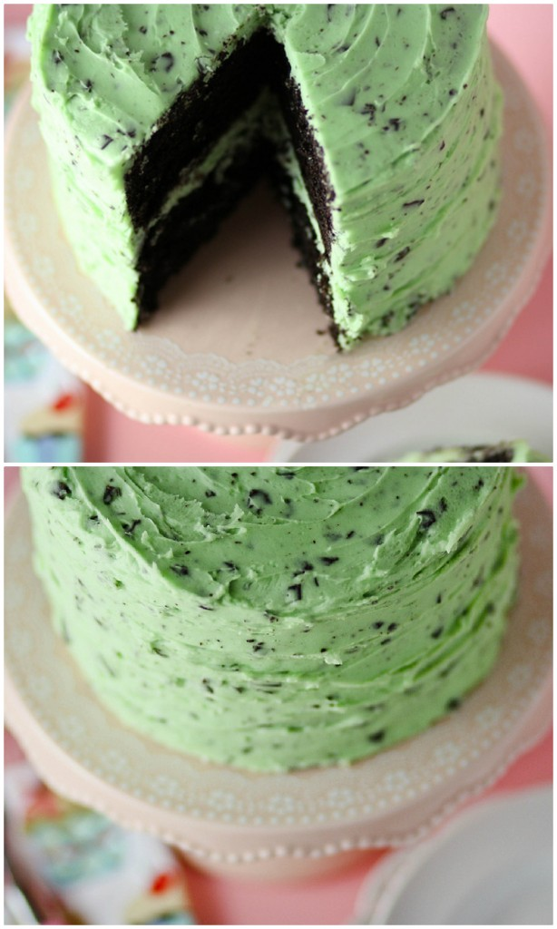 Mint-Chocolate-Chip-Cake