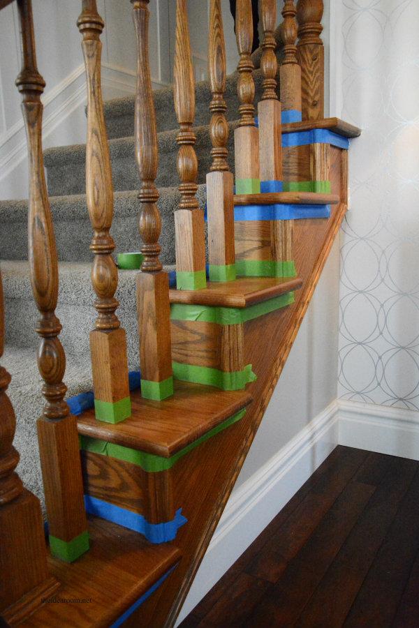 Stain Oak Banister