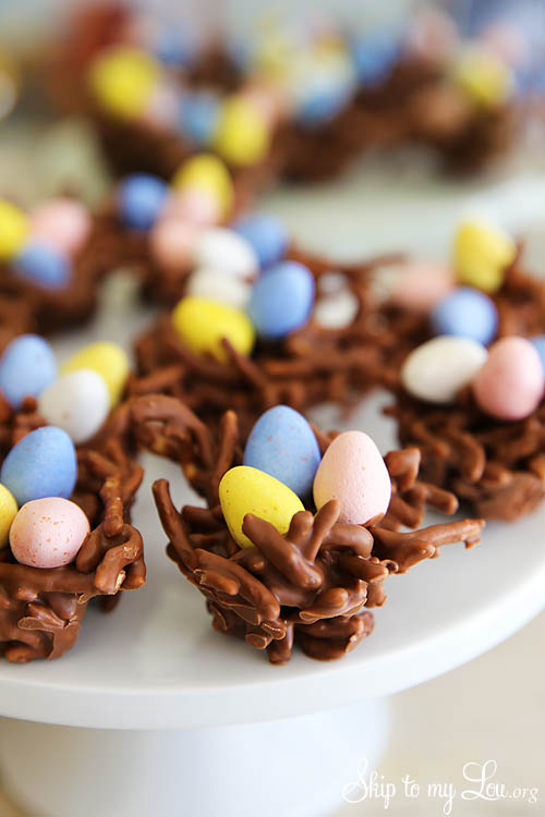 chocolate-peanut-butter-bird-nest-cookies