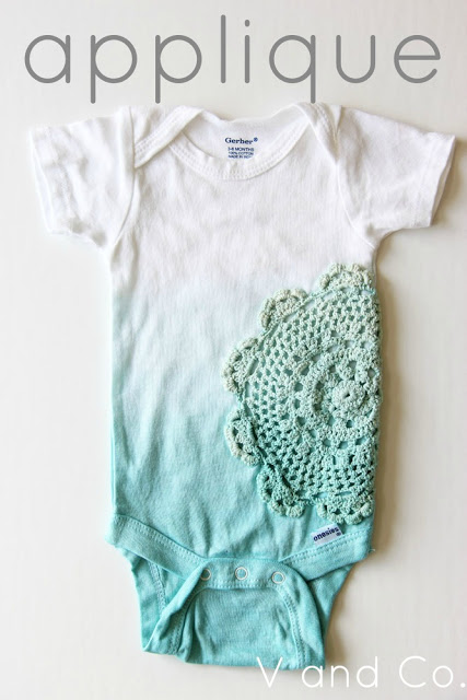 ombre onesie teal applique doily1