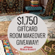 Room Makeover Giveaway with World Market