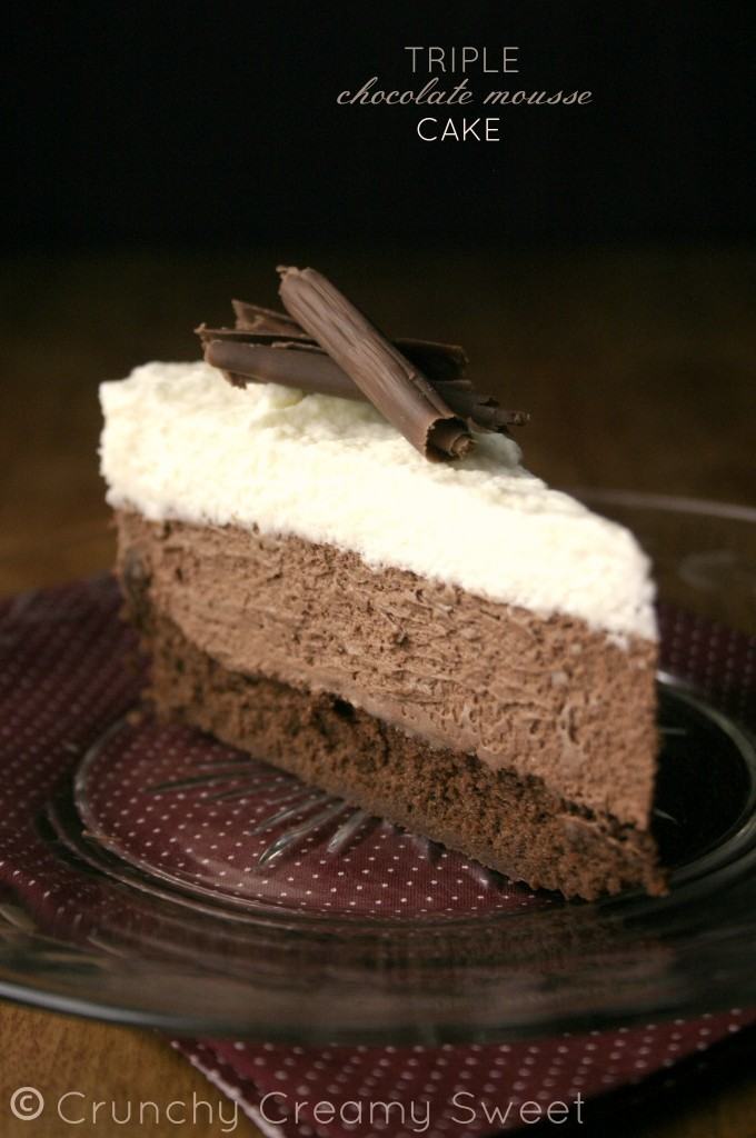 Chocolate Mousse Triple Layer Cake