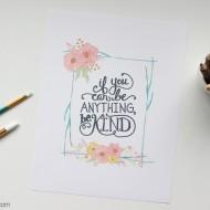 Be Kind Free Printable