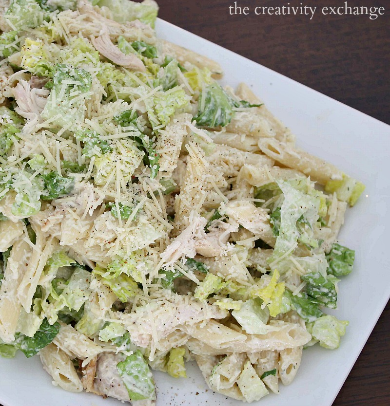 Chicken-Casear-Pasta-Salad-Recipe.-The-Creativity-Exchange