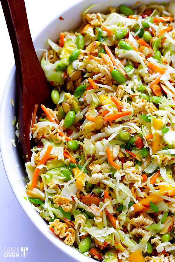Crunchy Asian Ramen Noodle Salad from GIMME some OVEN