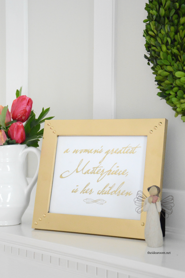 Gold Foil Mother's Day Sign 1