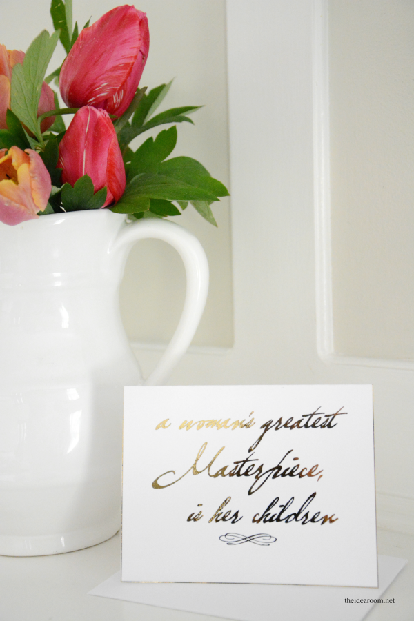 Gold Foil Mother's Day Sign 3