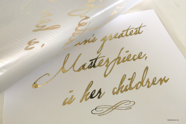 Gold Foil Mother's Day Sign 4