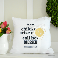 Shutterfly Mother's Day Pillow with Printable