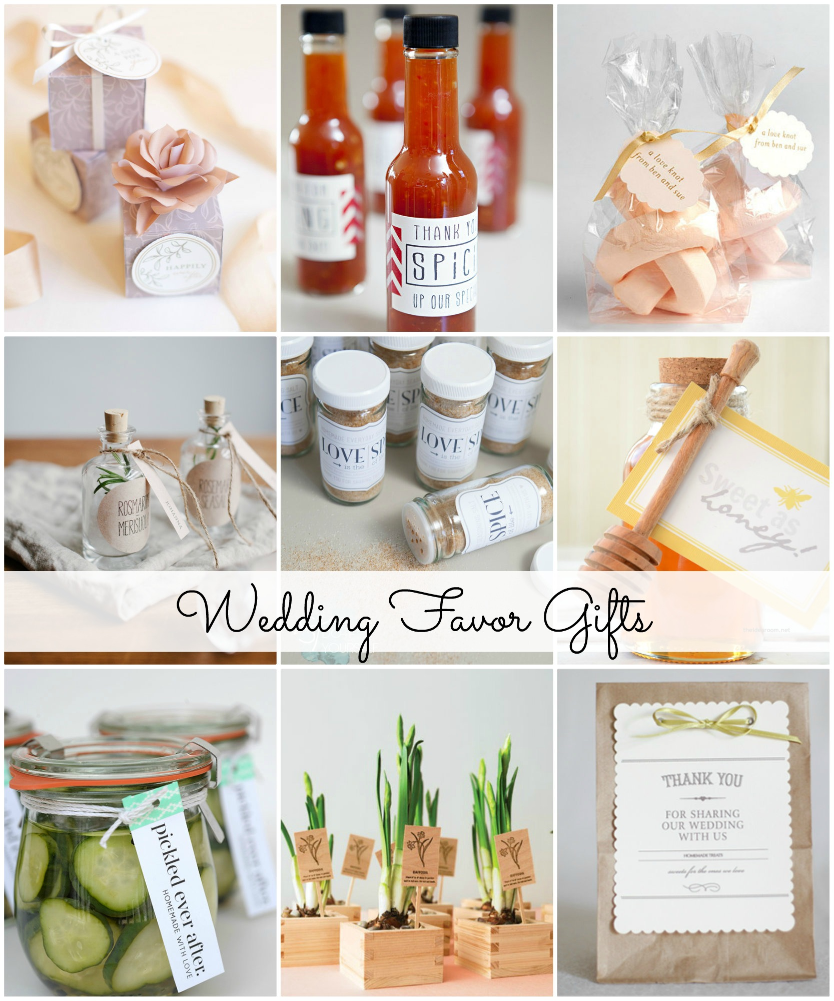 Wedding Party Favor Ideas: Wedding Favor Gift Ideas