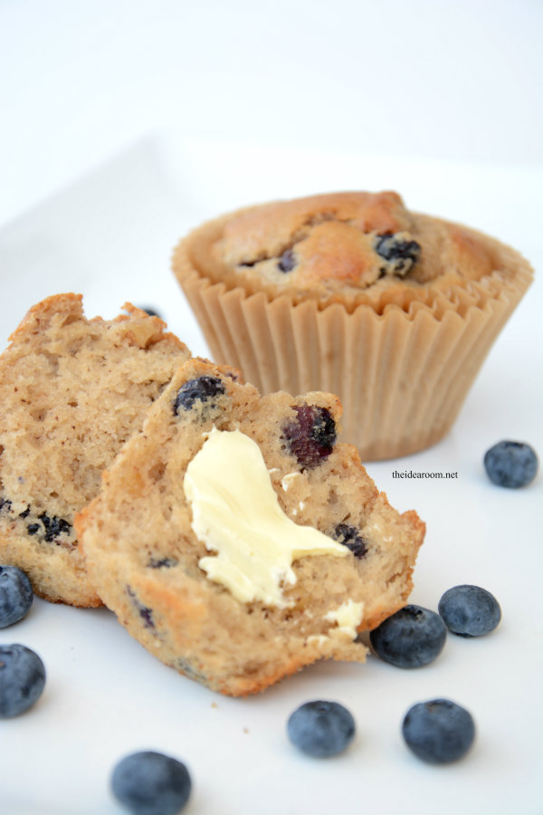 Banana Blueberry Muffins Recipe - The Idea Room