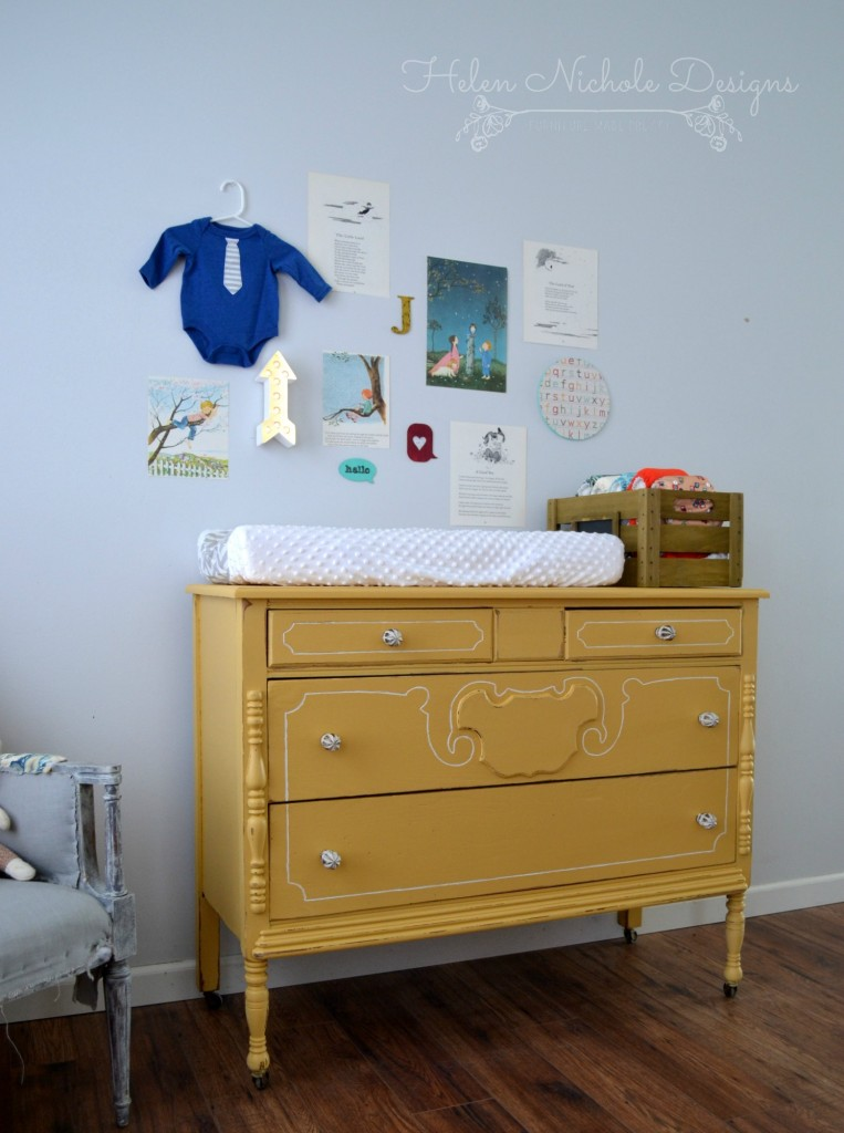 mustard changing table