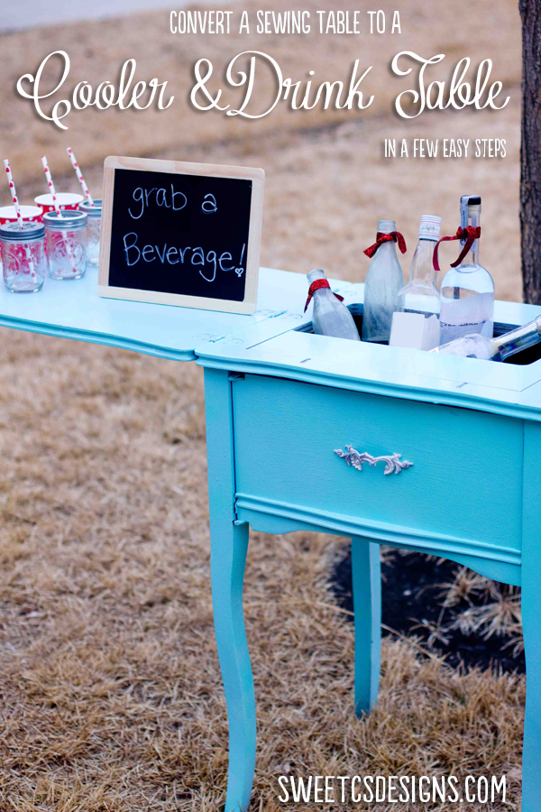sewing-table-turned-cooler-and-drink-table-in-a-few-easy-steps