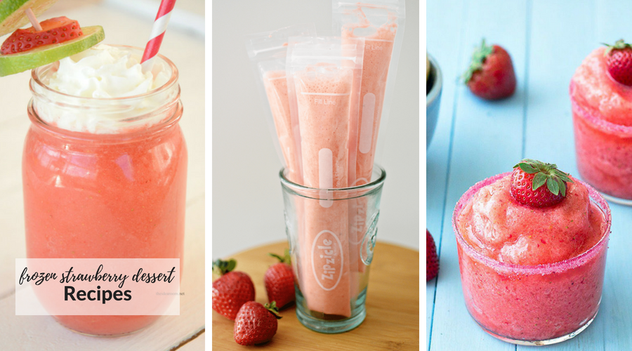 frozen strawberry dessert recipes
