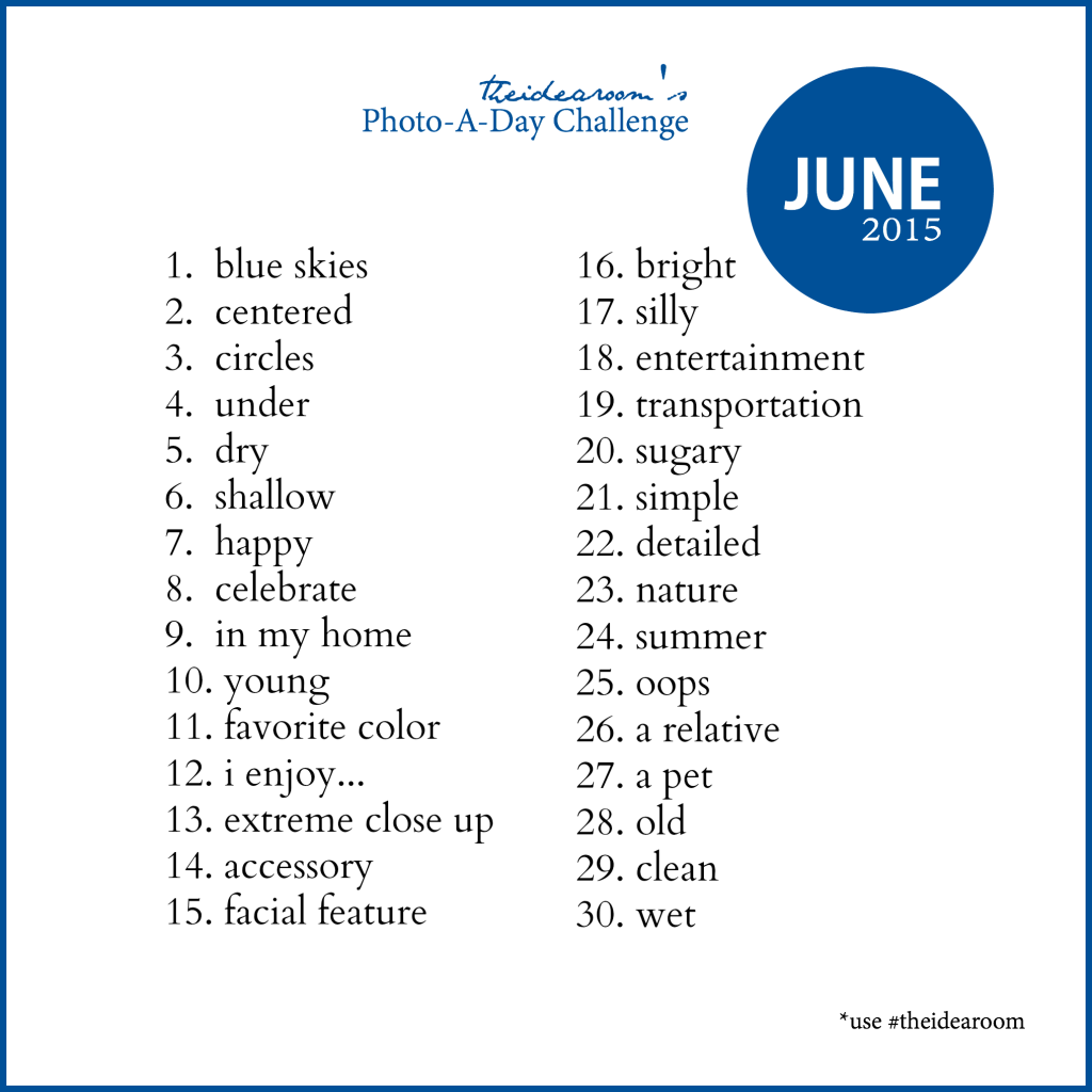 June Photo A Day Challenge 2015
