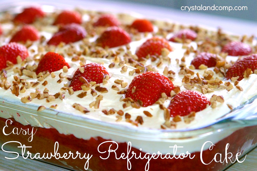 Easy Strawberry Refrigerator Cake Recipe