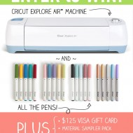 Cricut Explore Air Machine Giveaway