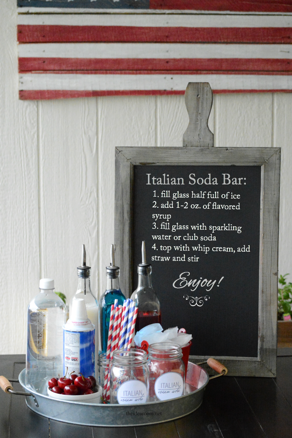 Italian soda Bar Instructions
