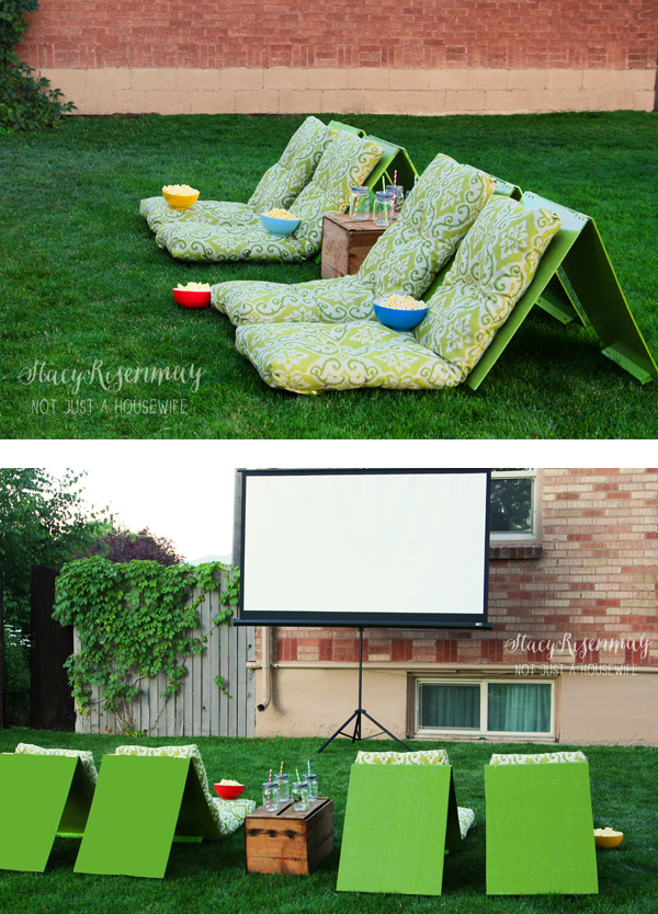 Diy outdoor theater seating