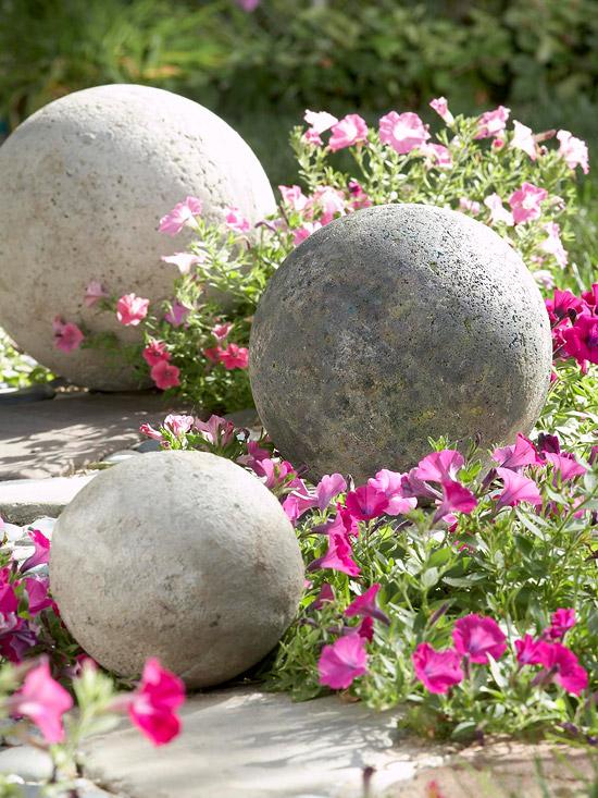 cement garden spheres