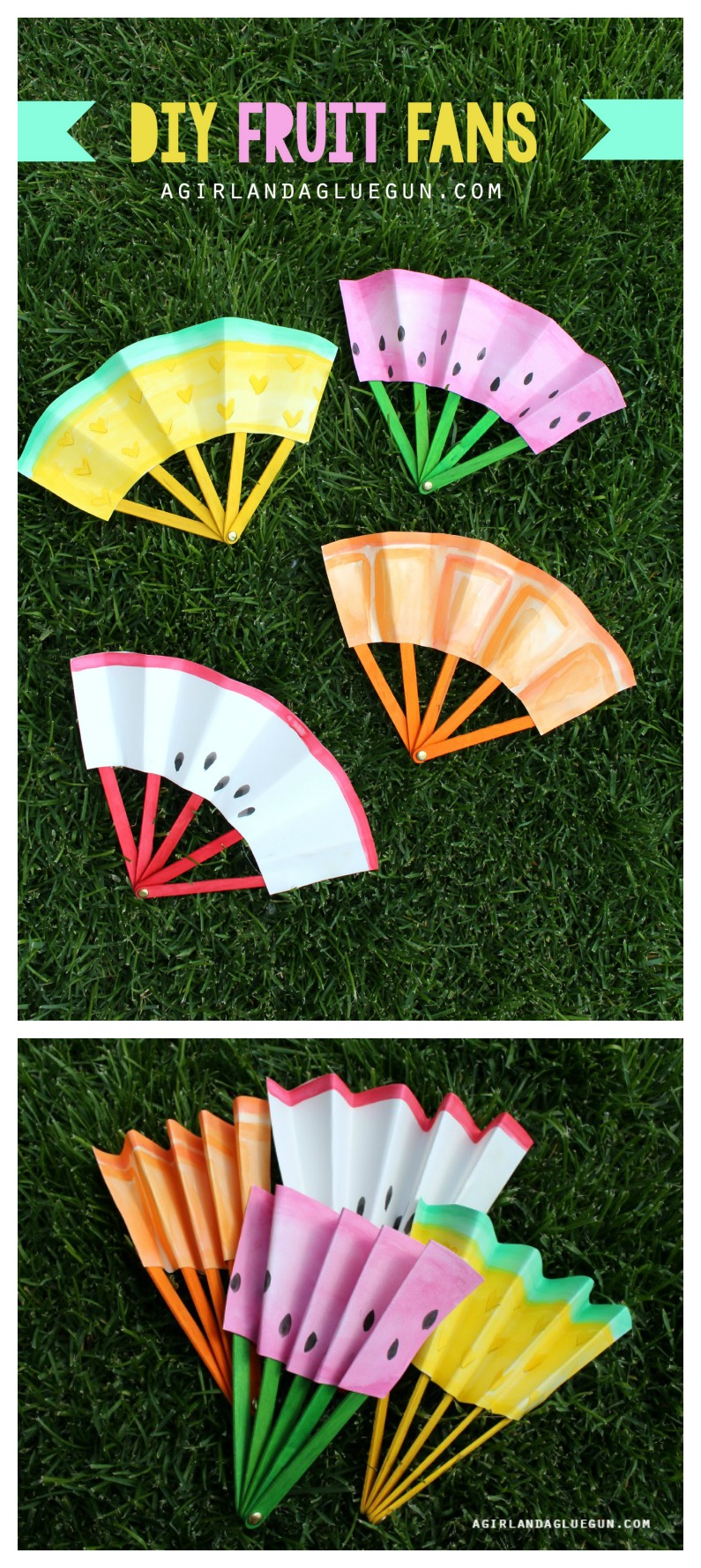 DIY Fruit Fans: Kids Craft - The Idea Room