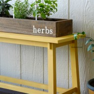 Herb Garden and Garden Markers