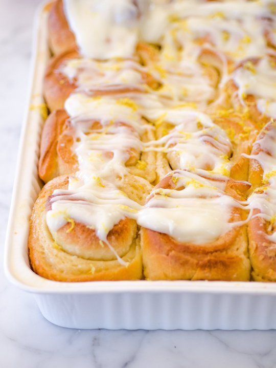 sticky lemon rolls with lemon cream cheese frosting