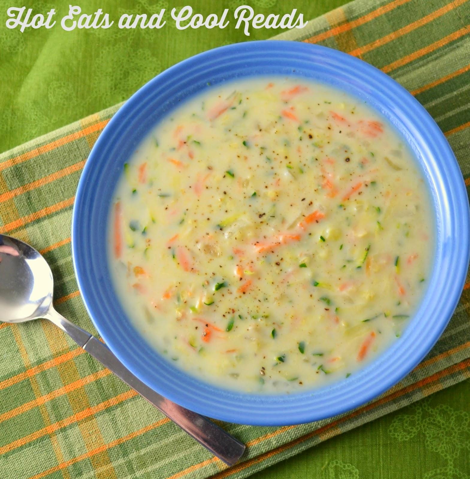 creamy zucchini carrot soup 1