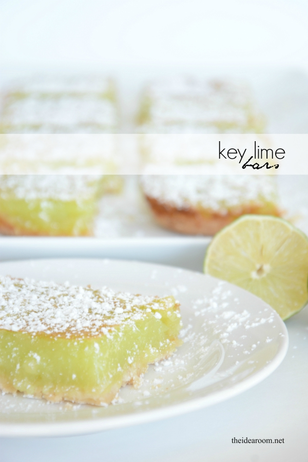 Key Lime Bars - The Idea Room