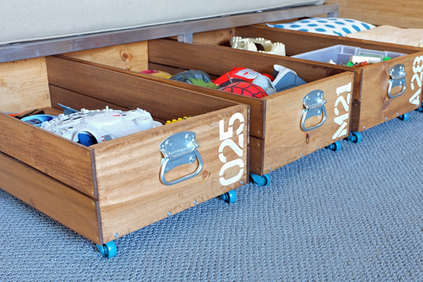 Creative Under Bed Storage Ideas - The Idea Room