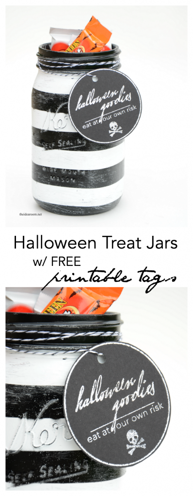 Halloween Treat Jars pin
