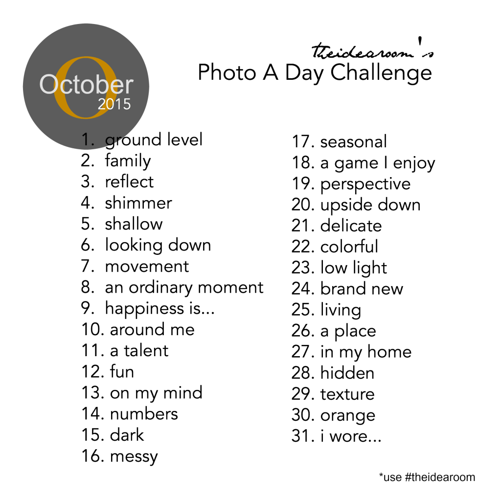October Photo A Day 2015 Challenge