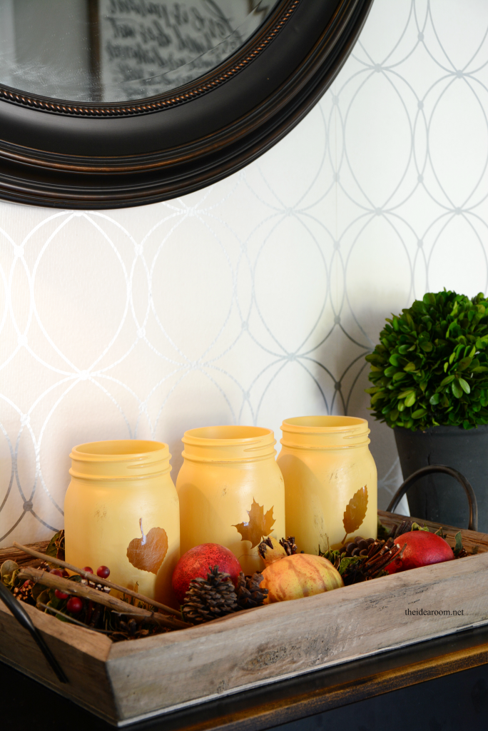 Fall Decor Painted Mason Jars The Idea Room