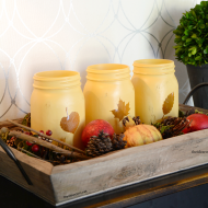 Fall Decor: Painted Mason Jars